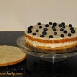 Tort z jagodami - przekladanie