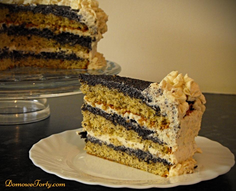 Tort makowy - kawalek