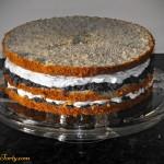 Tort makowy - przekladanie