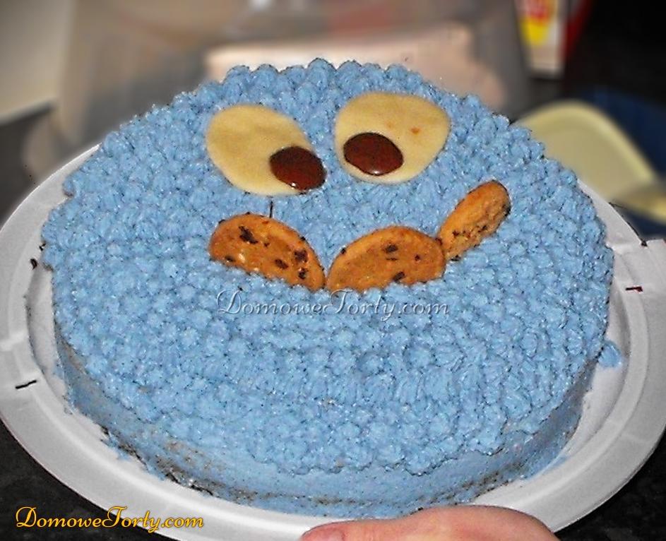 Tort ciasteczkowy potworek