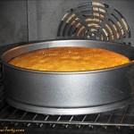 Biszkopt waniliowy w piekarniku
