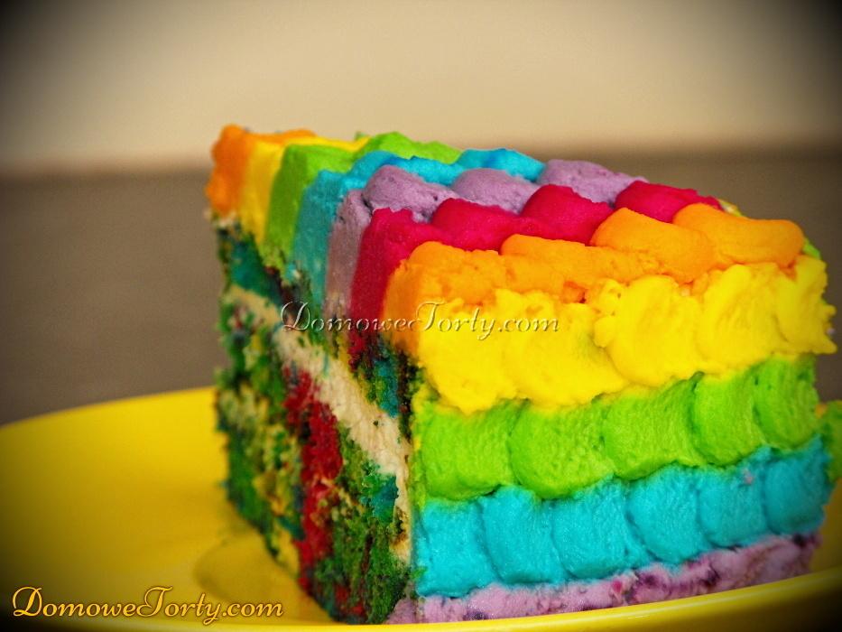 Tort Teczowy - kawalek
