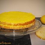 Tort cytrynowy - przekladanie