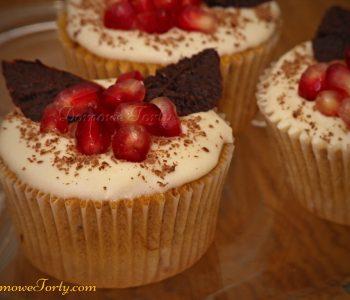 Muffinki kawowe z czekoladą i granatem
