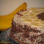 Tort bananowy - zdobienie