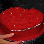 Tort serduszko-rozyczki - zdobienie