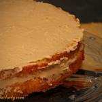 Tort cappuccino - przekladanie