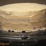 Czekoladowy tort zebra - dekoracja