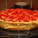 Tort migdalowy - przekladanie